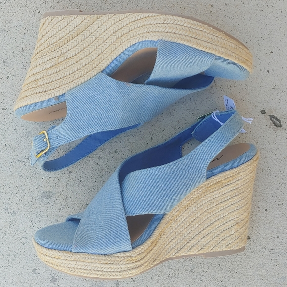 American Eagle Outfitters Shoes - American Eagle Denim Wedges